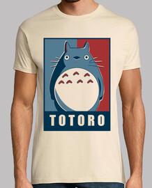 Camiseta hombre totoro Obey Crema