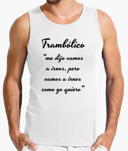 Camiseta Hombre tramboliko, sin mangas, blanca