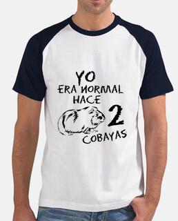 Camiseta hombre Yo era normal hace 2 cobayas BICOLOR