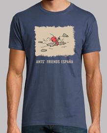 Camiseta Hormiga cavando estampado marron con letras