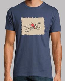 Camiseta Hormiga cavando estampado marron sin letras