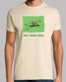 Camiseta Hormiga cavando estampado verde con letras