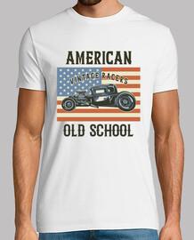 Camiseta Hot Rod Vintage Retro Car Rockabilly