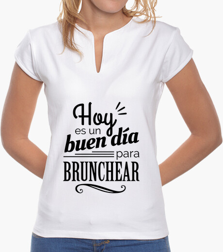 Camiseta Hoy es un buen día para brunchear BW