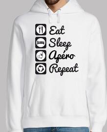 camiseta humor alcohol comer dormir ape