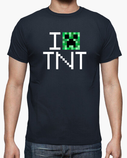 Camiseta I Creeper (Love) TNT Minecraft - Blanco