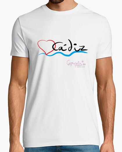 Camiseta I LOVE CADIZ by Carajote