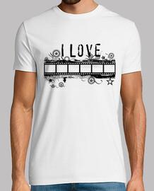 Camiseta I LOVE CINEMA