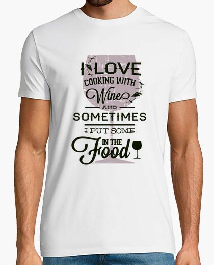Camiseta I love Cooking With Wine