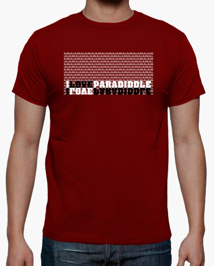 Camiseta I love paradiddle