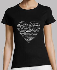 camiseta ich liebe dich in verschiedenen sprachen