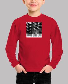 Camiseta icónica Niño, manga corta, rojo