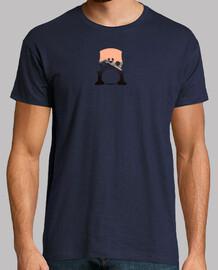 Camiseta icónica violonchelo by Nugantur Hombre, manga corta, azul marino, calidad extra