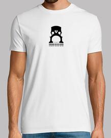 Camiseta icónica violonchelo Hombre, manga corta, blanco, calidad extra