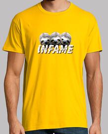 Camiseta INFAME Perezoso amarilla