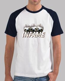 Camiseta INFAME perezoso negra y blanca