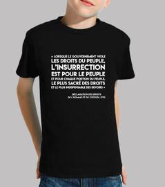 camiseta infantil - art35-insurrection-white