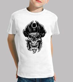 camiseta infantil - calavera pirata
