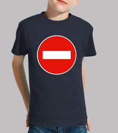 Camiseta Infantil - Prohibido Delantera