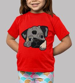 Camiseta infantil color roja