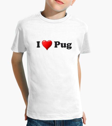 Ropa infantil Camiseta infantil corazon pug