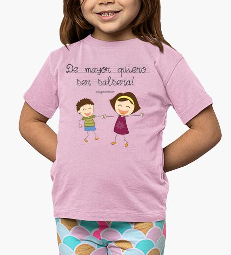 Ropa infantil camiseta infantil de mayor quiero ser salsera pareja