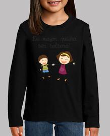 camiseta infantil de mayor quiero ser salsera pareja