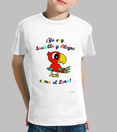 Camiseta infantil del loro