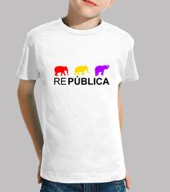 Camiseta Infantil Elefantes República