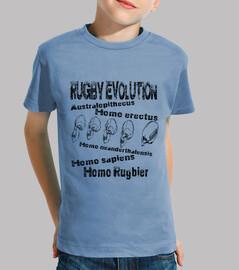 Camiseta infantil Homo rugbier