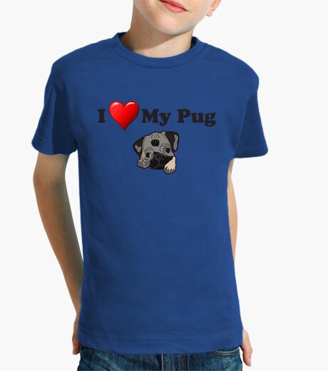 Ropa infantil Camiseta infantil I love my pug