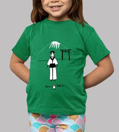 Camiseta infantil Japonesa verde