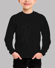 camiseta infantil jirafa