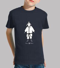 Camiseta infantil Judoka azul