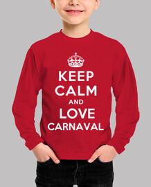 Camiseta infantil keep calm and love carnaval