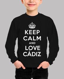Camiseta infantil love cadiz