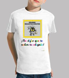 Camiseta infantil Malauva gris
