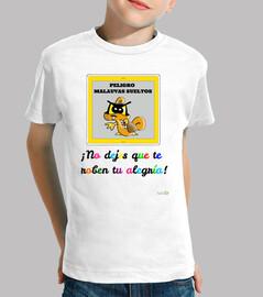 Camiseta infantil Malauva naranja