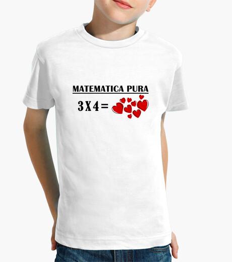 Ropa infantil Camiseta infantil matematica 3x4