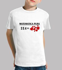 Camiseta infantil matematica 3x4