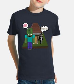 Camiseta Infantil Minecraft Tu Fuera Por Feo
