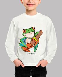 Camiseta infantil Rana smile color