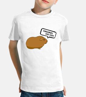 Camiseta infantil Saludos cui-cui