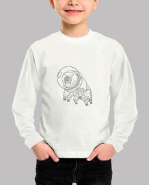 camiseta infantil tardigrade space