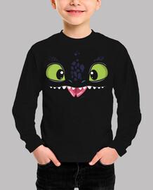 Camiseta infantil Toothless