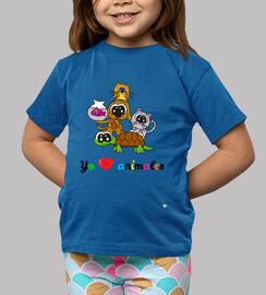 Camiseta infantil Yo amo a los animales