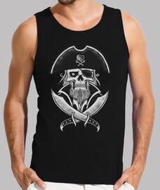 camiseta interior hombre - el capitán pirata