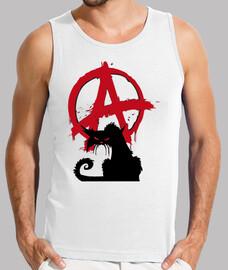 camiseta interior hombre - gato anarquista