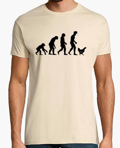 Camiseta Involución humana hacia la gallina