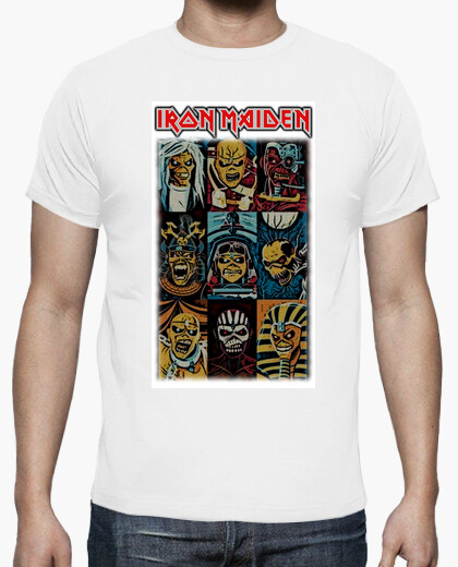Camiseta Iron Maiden Eddie Cartoon white